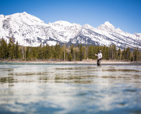 Fly fishing trip on snake river jackson hole