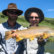 Trout caught while fly fishing