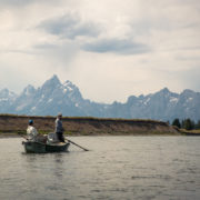Fly fishing guide on Snake River