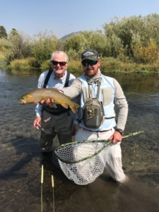 Jackson Hole Guide and Client with Trout